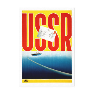 Impressão Em Canvas Poster de viagens do cruzeiro do vintage de URSS