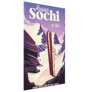 Impressão Em Canvas Poster de viagens do esqui de Sochi Rússia