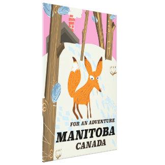 Impressão Em Canvas Poster de viagens do estilo do vintage de Manitoba