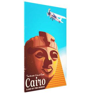 Impressão Em Canvas Poster de viagens do estilo do vintage do Cairo