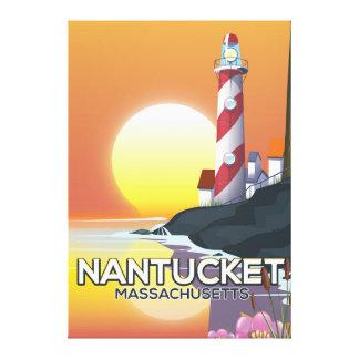 Impressão Em Canvas Poster de viagens do farol de Nantucket