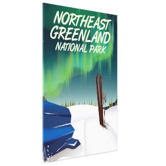 Impressão Em Canvas Poster de viagens do nordeste de Greenland