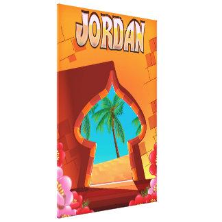 Impressão Em Canvas Poster de viagens do palácio de Jordão