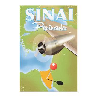 Impressão Em Canvas Poster de viagens do vôo da peninsula do Sinai