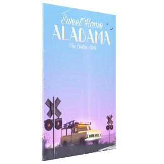 """Impressão Em Canvas Poster de viagens """"home"""" doce de Alabama"""