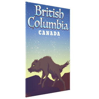 Impressão Em Canvas Poster do lobo de Canadá do Columbia Britânica
