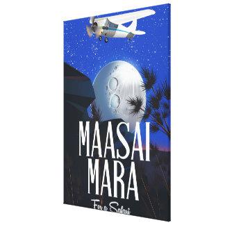 Impressão Em Canvas Poster do safari a Massai Mara, Kenya!