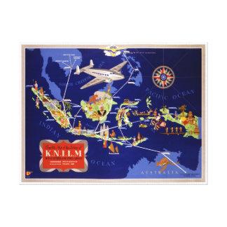 Impressão Em Canvas Poster holandês das viagens vintage restaurado