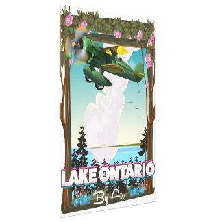 Impressão Em Canvas Poster norte-americano do vôo do Lago Ontário