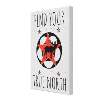Impressão Em Canvas Poster vermelho do norte verdadeiro dos alces da