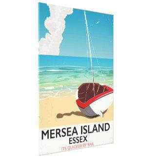 Impressão Em Canvas Poster vintage de Essex da ilha de Mersea