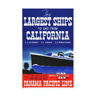Impressão Em Canvas Poster vintage restaurado Califórnia dos EUA New
