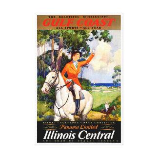 Impressão Em Canvas Poster vintage restaurado Mississippi de Illinois