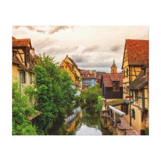 Impressão Em Canvas Pouca Veneza, pequeno Venise, em Colmar, France