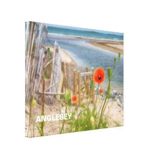 Impressão Em Canvas Praia cénico da opinião de Anglesey Wales e