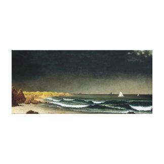 Impressão Em Canvas Praia de aproximação da tempestade de Martin