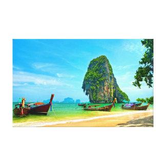 Impressão Em Canvas Praia de Railay em Krabi, Tailândia