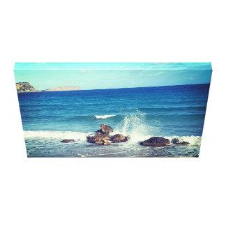 Impressão Em Canvas praia do respingo da onda