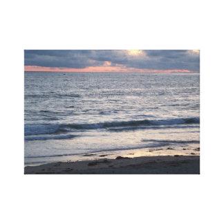 Impressão Em Canvas Praia pacífica no por do sol