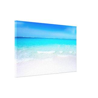 Impressão Em Canvas Praia tropical com um mar de turquesa