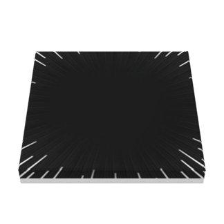 Impressão Em Canvas preto