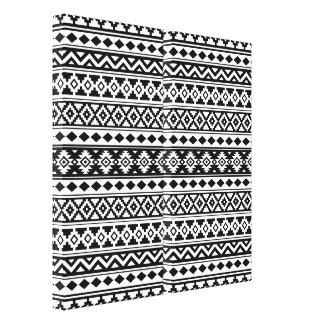 Impressão Em Canvas Preto & branco astecas de IIb do teste padrão da