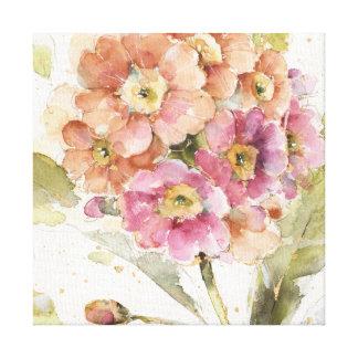 Impressão Em Canvas Prímula cor-de-rosa e alaranjada