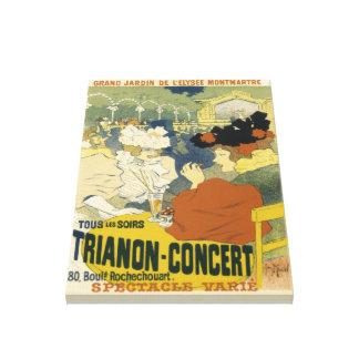 Impressão Em Canvas Propaganda do Trianon-Concerto do vintage