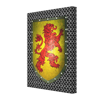 Impressão Em Canvas Protetor vermelho Chainmail do leão