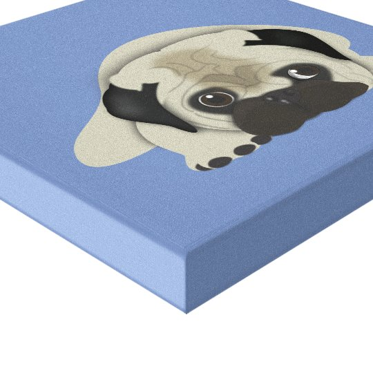 Impressão Em Canvas Pug