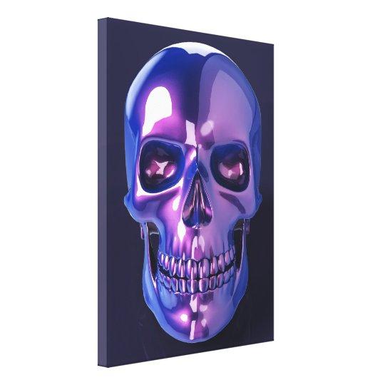 Impressão Em Canvas Purple Skull
