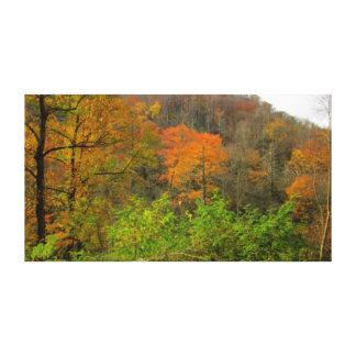 Impressão Em Canvas Queda nas montanhas fumarentos