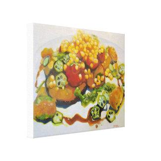 Impressão Em Canvas Quiabo & milho