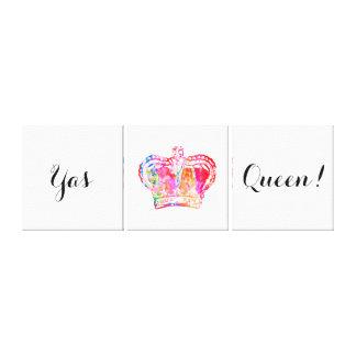 Impressão Em Canvas Rainha de Yas! Design brilhante da coroa da