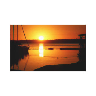 Impressão Em Canvas Raio Hubbard do lago sunrise