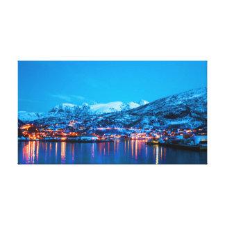 Impressão Em Canvas Reflexões da noite em Noruega