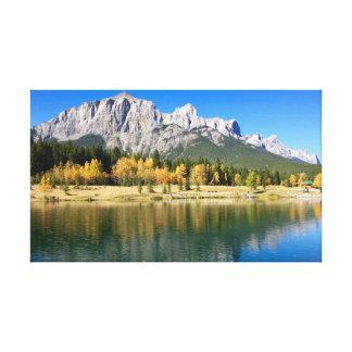 Impressão Em Canvas Reflexões de Banff
