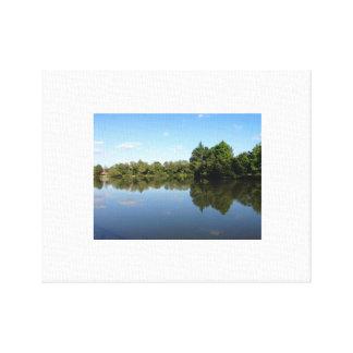Impressão Em Canvas Reflexões do lago