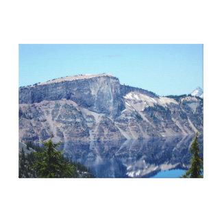 Impressão Em Canvas Reflexões do lago crater