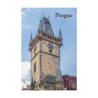 Impressão Em Canvas República checa da câmara municipal velha de Praga