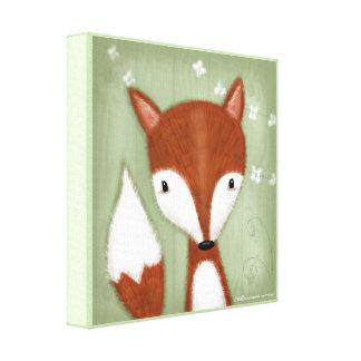 Impressão Em Canvas Retrato do Fox