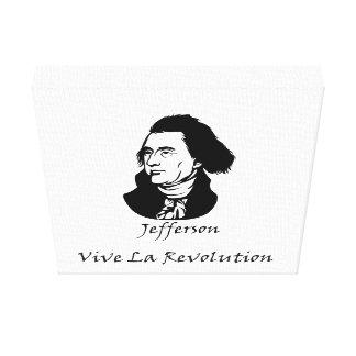 Impressão Em Canvas Revolução de Thomas Jefferson - de La de Vive