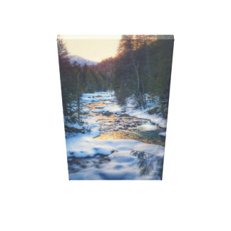 Impressão Em Canvas Rio do inverno