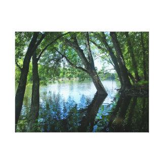 Impressão Em Canvas Riverbank de Joe da rua, Indiana
