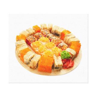 Impressão Em Canvas rolos de sushi