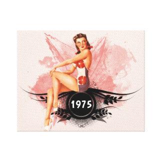 Impressão Em Canvas Rosa do Pinup