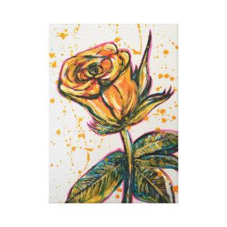Impressão Em Canvas 'Rose amarelo
