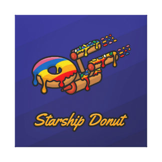 Impressão Em Canvas Rosquinha de Starship - orgulho gay - quadrado