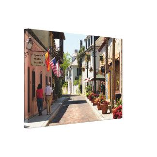 Impressão Em Canvas Rua histórica de Aviles