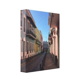 Impressão Em Canvas Ruas San Juan velho histórico do Cobblestone